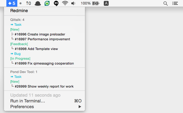 Image preview of Redmine Show My Task plugin.