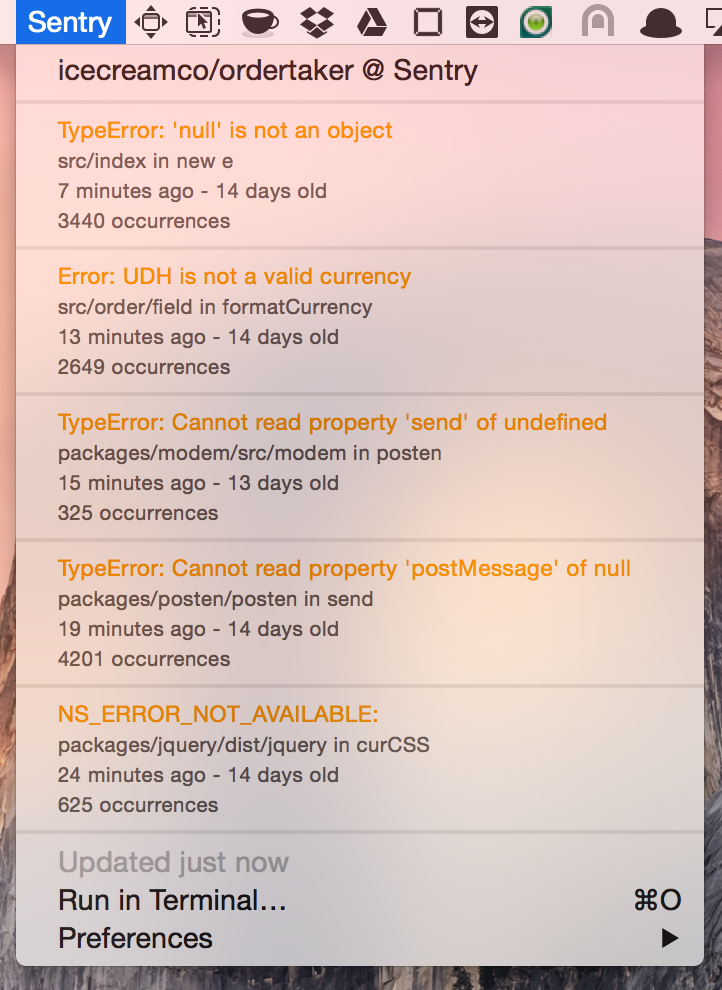 Image preview of Sentry plugin.