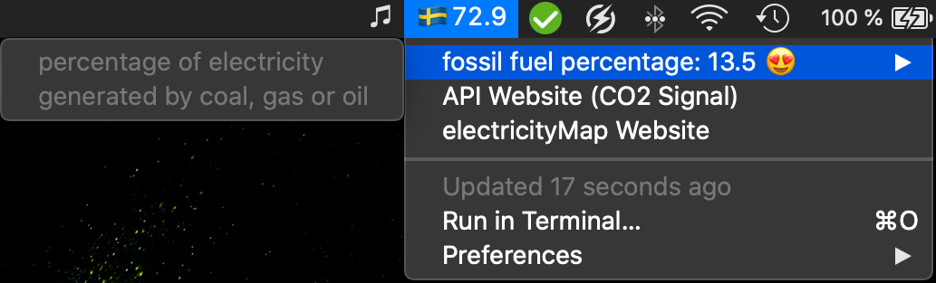 Image preview of CO2Signal API plugin.