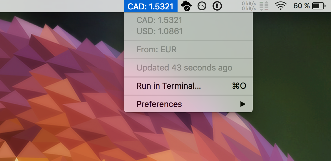 Image preview of Currency Tracker plugin.