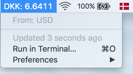 Image preview of Currency Tracker Transferwise plugin.