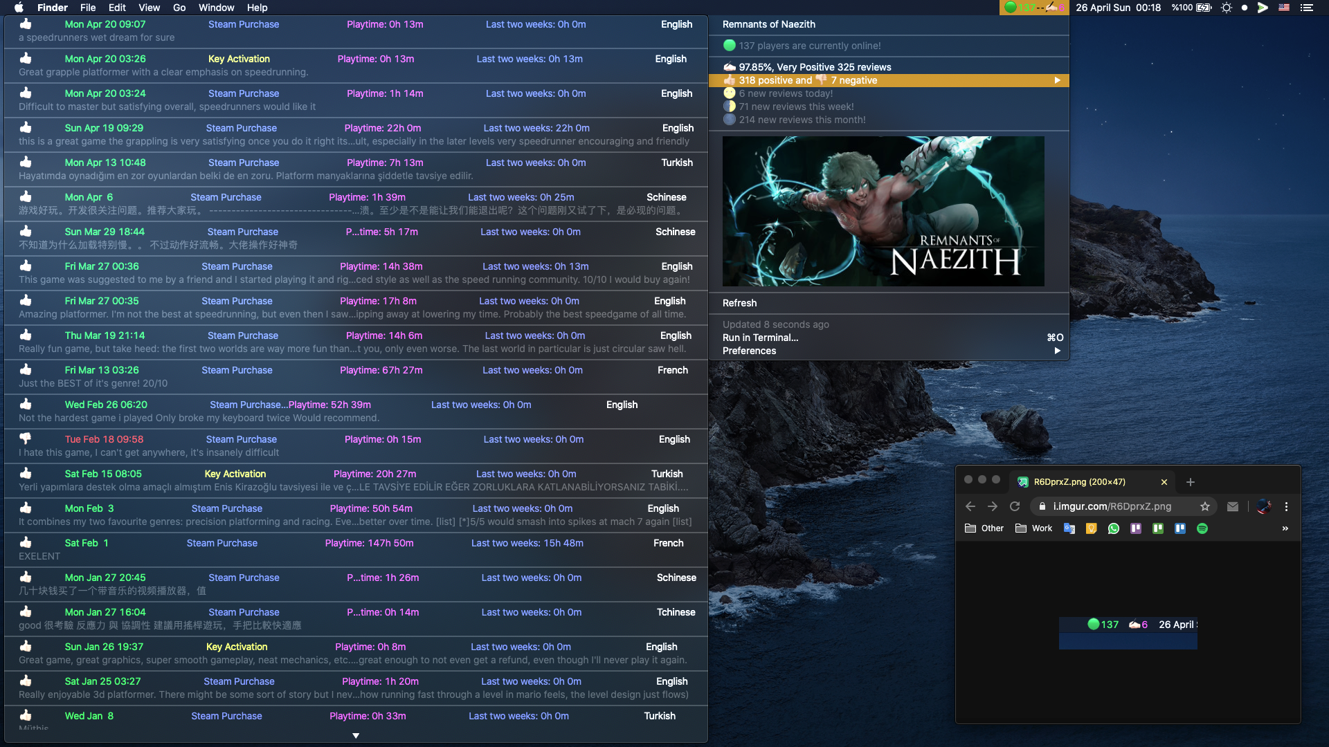 Image preview of Steam Dashboard plugin.