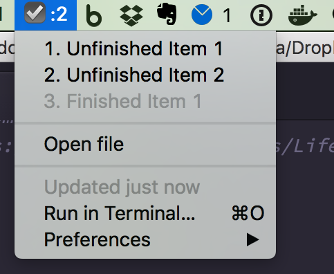 Image preview of Simple ToDo Tracker for Markdown plugin.