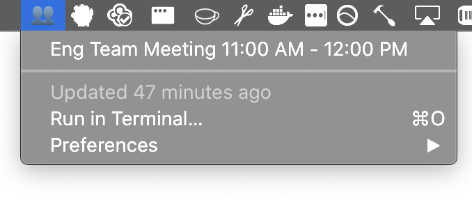 Image preview of Zoom Meetings for Today plugin.