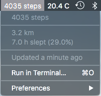 Image preview of Get steps and sleep duration from your Jawbone UP plugin.