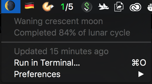 Image preview of Moon Phase plugin.