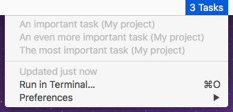 Image preview of Taskpaper Today plugin.