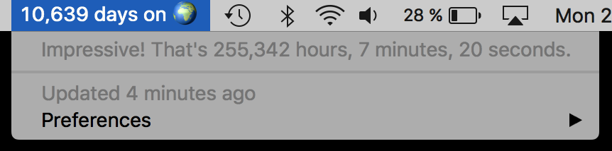Image preview of Your time on earth plugin.