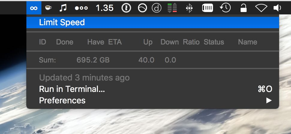 Image preview of Transmission Remote plugin.