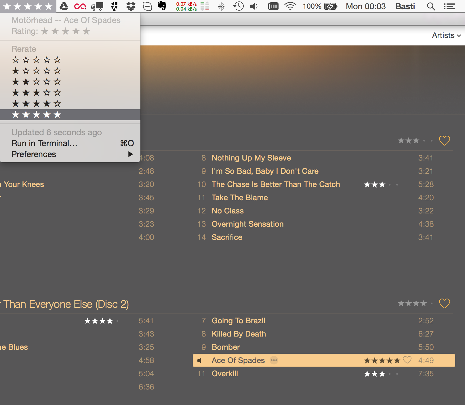 Image preview of iTunes Rating plugin.