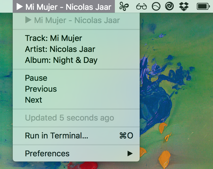 Image preview of Spotify Now Playing plugin.