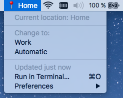 Image preview of Show / Edit network location plugin.