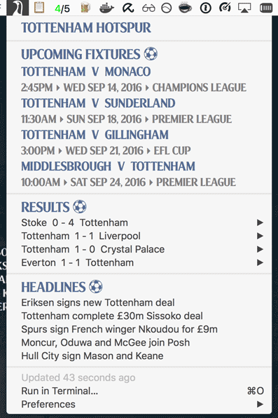 Image preview of SpursBar plugin.
