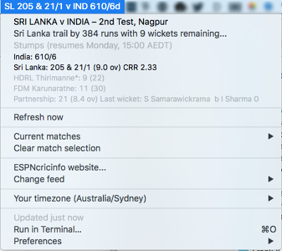 Image preview of Cricket Bar plugin.