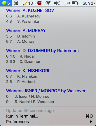 Image preview of Live Tennis Scores plugin.