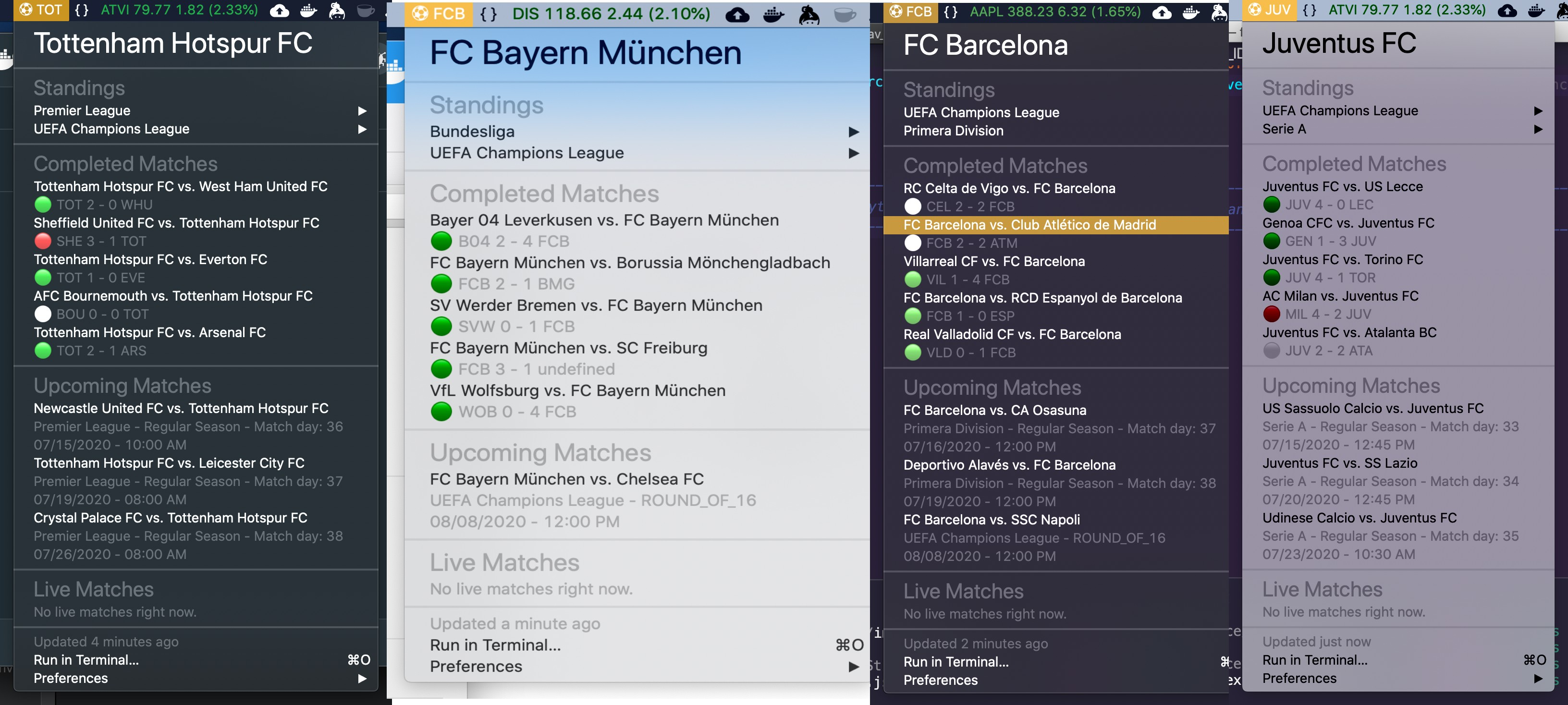 Image preview of Your Team: Soccer Matches plugin.