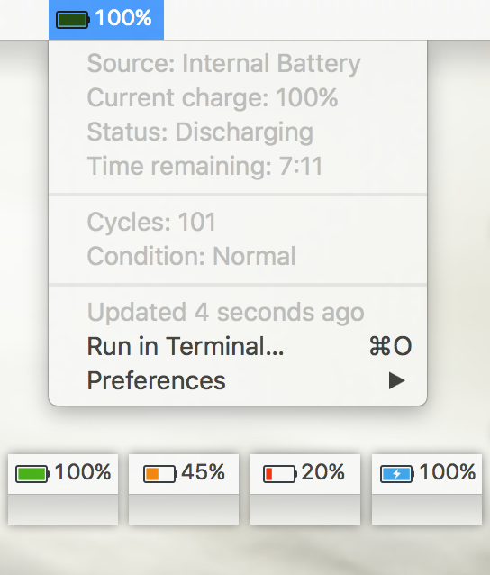 Image preview of Colorful Battery Indicator plugin.