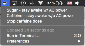 Image preview of Caffeinate plugin.