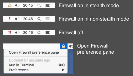 Image preview of Firewall Status Indicator plugin.