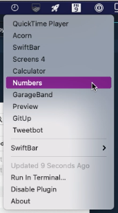 Image preview of Recent Apps plugin.