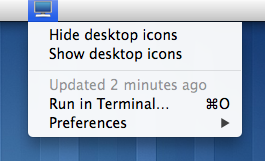 Image preview of Show/Hide Desktop Icons plugin.