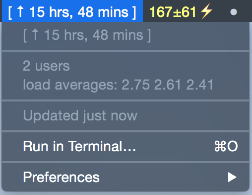 Image preview of uptime plugin.
