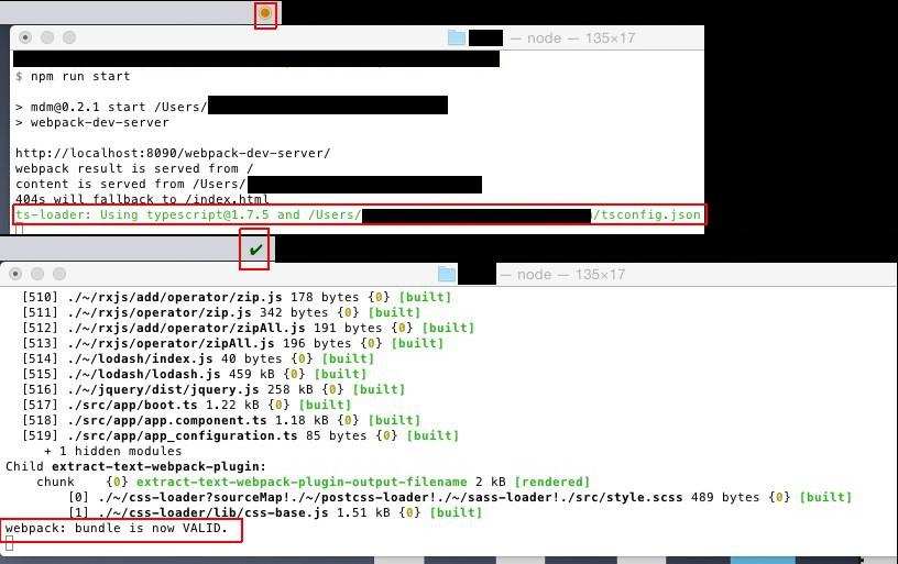 Image preview of Webpack Status plugin.