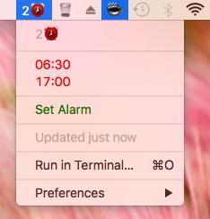 Image preview of Alarm Clock plugin.