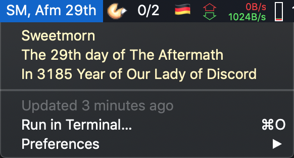 Image preview of Discordian Date plugin.