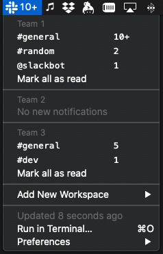 Image preview of Slack Team Notifications plugin.
