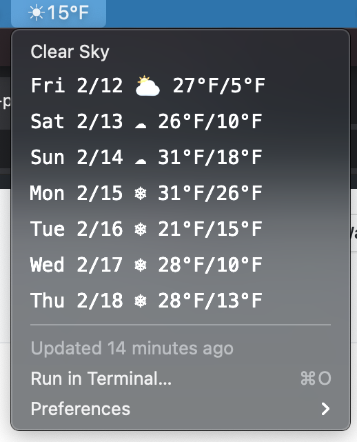 Image preview of Weather - OpenWeatherMap plugin.