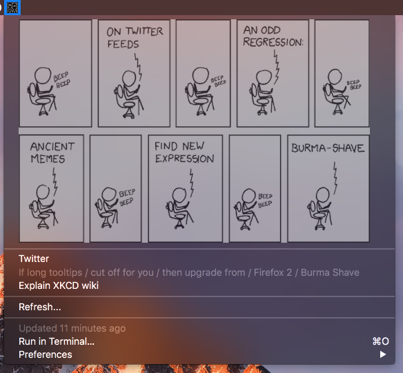 Image preview of XKCD plugin.