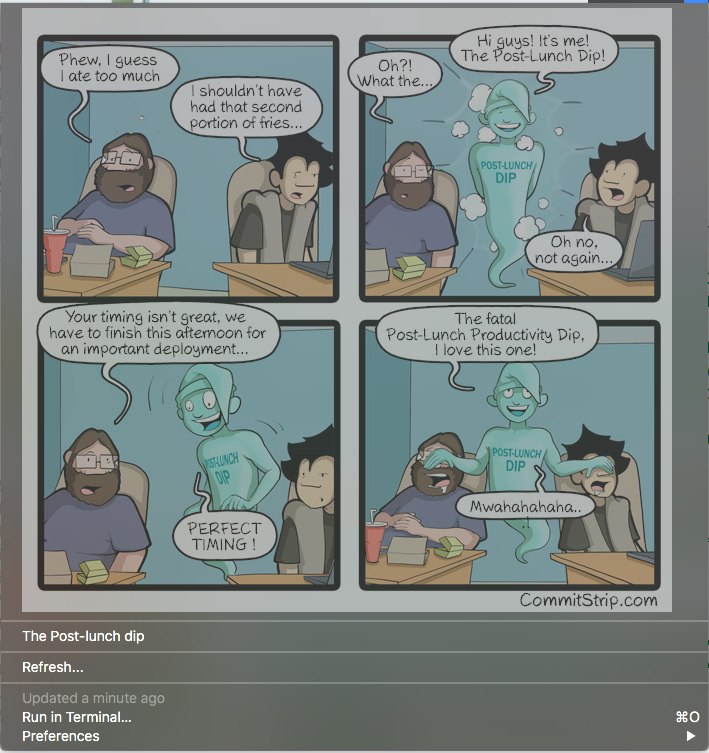 Image preview of CommitStrip plugin.