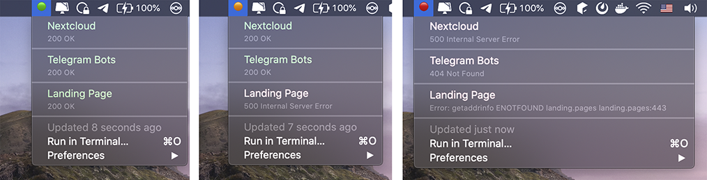 Image preview of Service Status plugin.